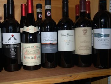 Sample of Wines Available