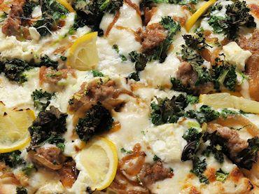 Kale and Salsiccia Pizza