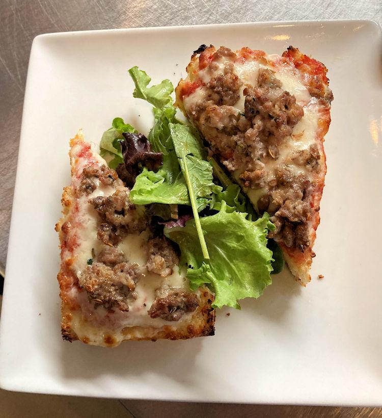 Happy Hour Focaccia Bread Pizza